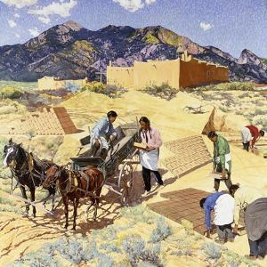 Builders in the Desert by Walter Ufer