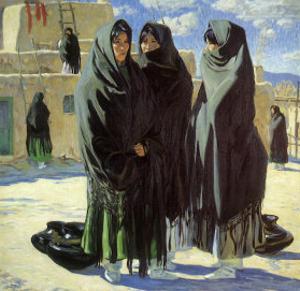 Taos Girls, 1916 by Walter Ufer