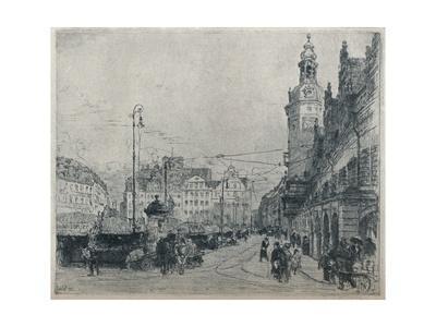 'Market Place, Leipzig', c1913