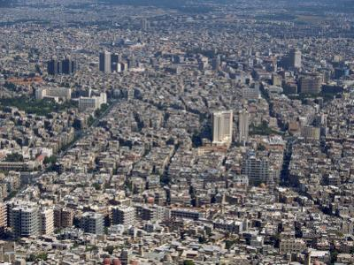 Aerial View over the City of Damascus, Syria, Middle East