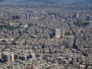 Aerial View over the City of Damascus, Syria, Middle East by Waltham Tony