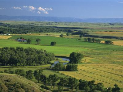 Agricultural Landscape, in the Valley of the Little Bighorn River, Near Billings, Montana, USA