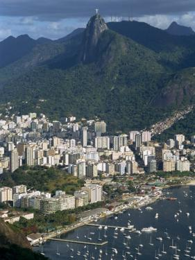 Corcovado Mountain and the Botafogo District of Rio De Janeiro from Sugarloaf Mountain, Brazil by Waltham Tony
