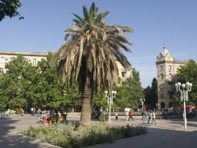 Fountains Square, the Main Open Area in the Middle of the City, Baku, Azerbaijan, Central Asia