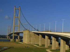 Humber Bridge Seen from the South, Humberside-Yorkshire, England, United Kingdom, Europe by Waltham Tony