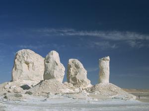 Isolated Chalk Towers, Remnants of Karst, Farafra Oasis, White Desert, Western Desert, Egypt by Waltham Tony