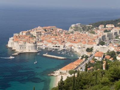 Old Town and Old Port, Seen from the Hills to the Southeast, Dubrovnik, Croatia