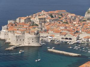 Old Town and Old Port, Seen from the Hills to the Southeast, Dubrovnik, Croatia by Waltham Tony