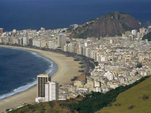Overlooking Copacabana Beach from Sugarloaf Mountain, Rio De Janeiro, Brazil by Waltham Tony