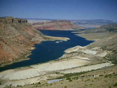 Reservoir on Green River, in the Flaming Gorge National Recreation Area, Utah Wyoming Border, USA