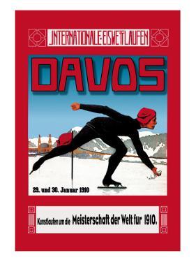 Davos Skater by Walther Koch
