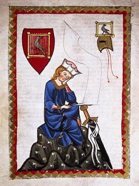 Walther Von Der Vogelweide (1170-1230). Codex Manesse (Ca.1300)