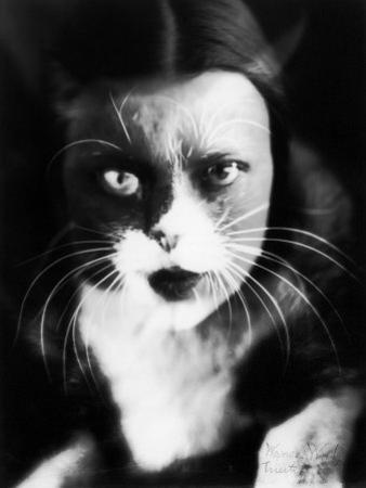 Me and Cat', Two Superimposed Photos of Wanda Wulz and of Her Cat by Wanda Wulz
