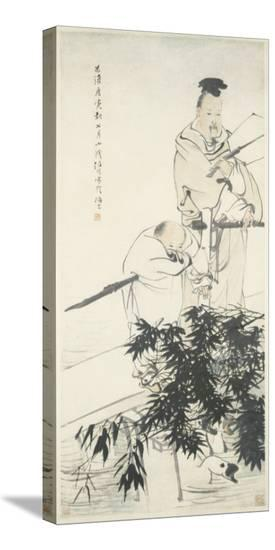 Wang Xizhi observes Geese-Ren Bonian-Stretched Canvas