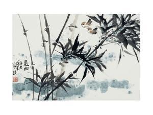 Birds in Winter Morning by Wanqi Zhang