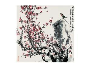 Cherry Blossoms and Bird by Wanqi Zhang