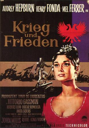 War and Peace, German Movie Poster, 1956