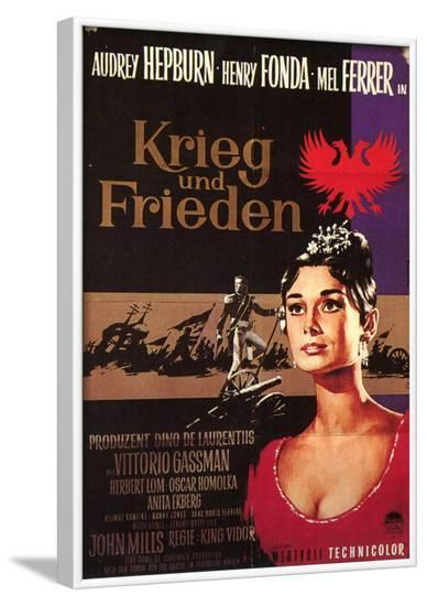 War and Peace, German Movie Poster, 1956--Framed Art Print