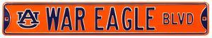 War Eagle Blvd Auburn Steel Sign