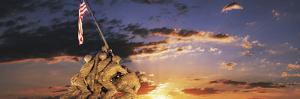 War Memorial at Sunrise, Iwo Jima Memorial, Rosslyn, Arlington, Arlington County, Virginia, USA