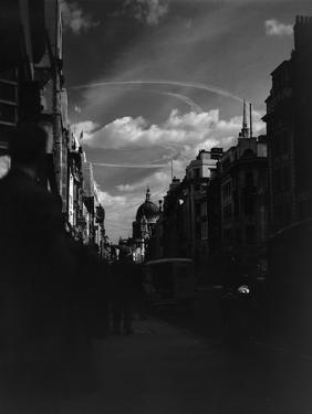 War Plane Contrails in the London Sky