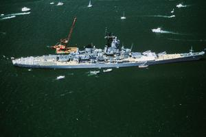 War Ship in New York Harbor, New York City, New York, July 4, 1986