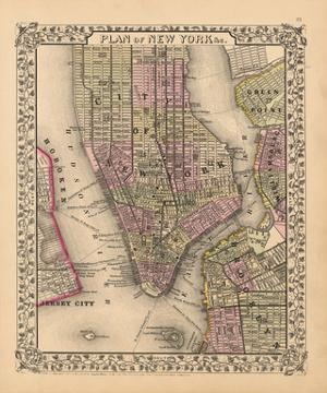 Plan of New York City, 1867 by Ward Maps