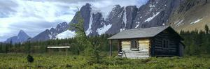 Warden Cabin on a Landscape, Wolverine Pass, Kootenay National Park, British Columbia, Canada