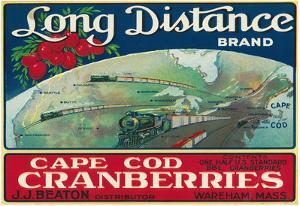 Wareham, Massachusetts, Long Distance Brand Cape Cod Cranberry Label
