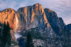 Warm Light and Chilly Yosemite Falls, Yosemite Valley