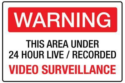 Warning Area Under Video Surveillance Plastic Sign
