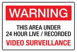 Warning Area Under Video Surveillance Sign Poster