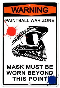 Warning Paintball War Zone