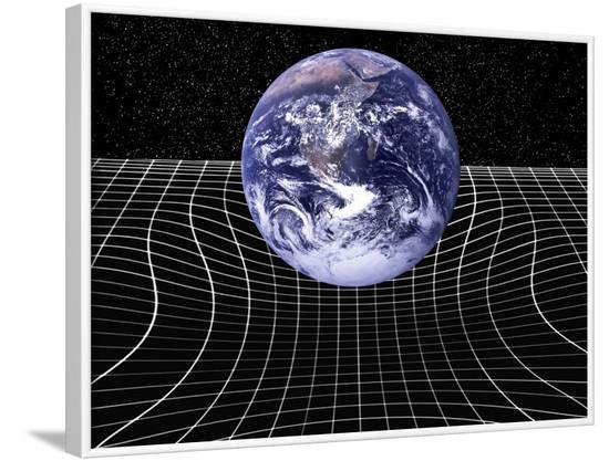 Warped Space-time Due To Gravity-Victor De Schwanberg-Framed Photographic Print