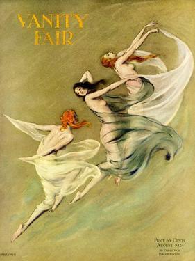 Vanity Fair Cover - August 1924 by Warren Davis