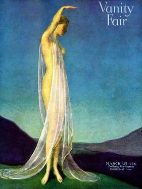 Vanity Fair Cover - March 1917 by Warren Davis