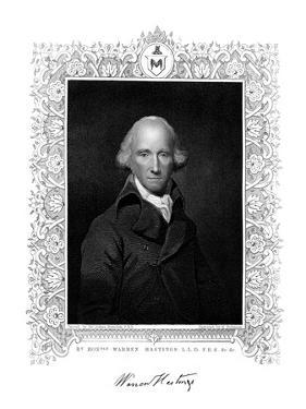 Warren Hastings, English Administrator in India, 19th Century by H Robinson
