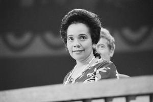 Coretta Scott King at the Democratic National Convention, NYC, 1976 by Warren K. Leffler