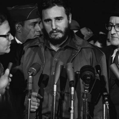 Fidel Castro Arrives Mats Terminal, Washington D.C.