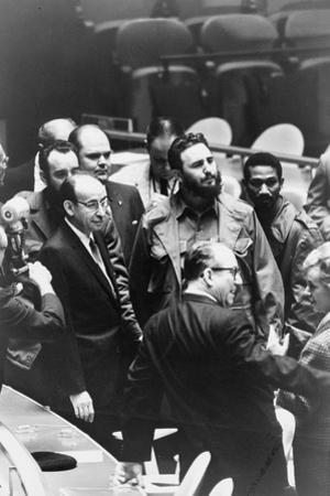 Fidel Castro at a meeting of the United Nations General Assembly, 1960 by Warren K. Leffler