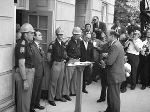 Governor George Wallace Blocks Entrance at the University of Alabama by Warren K. Leffler