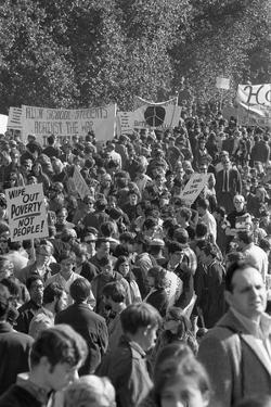 Large crowd demonstrate against the Vietnam war in Washington, D.C., 21 Oct. 1967 by Warren K. Leffler