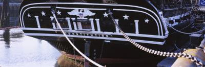 Warship Moored at a Harbor, Uss Constitution, Freedom Trail, Boston, Massachusetts, USA
