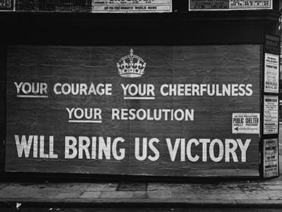 Wartime Propaganda Poster, 1939