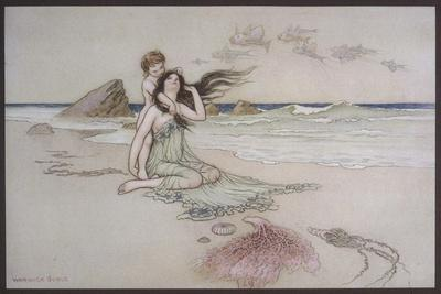An Illustration to the Song of the River: Play by Me Bathe in Me Mother and Child
