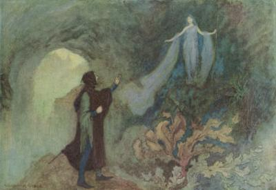 Cenerentola, (The Italian Version of the Cinderella Story) the Prince and the Fairy by Warwick Goble