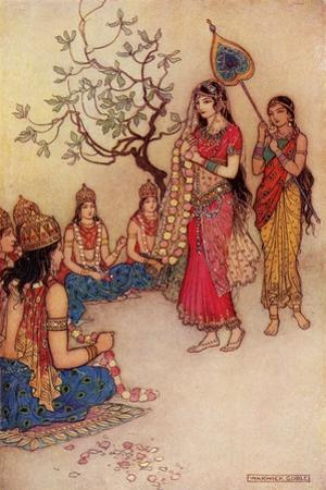 Damatanti Choosing a Husband by Warwick Goble