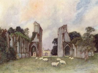 Glastonbury Abbey 1908 by Warwick Goble
