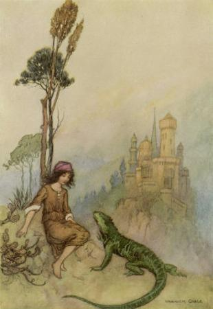 Goat-Face and the Lizard by Warwick Goble