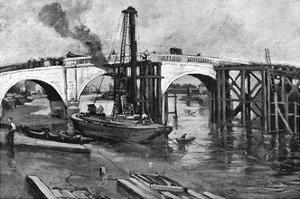 Kew Bridge Goes by Warwick Goble